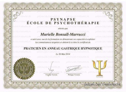 anneau gastrique hypnose Murielle BONSALL Livry-Gargan
