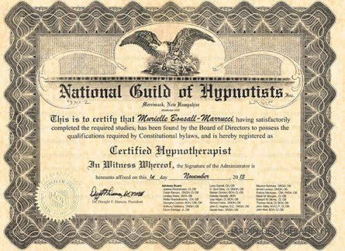 hypnose Livry-Gargan Murielle BONSALL National Guild of Hypnotists